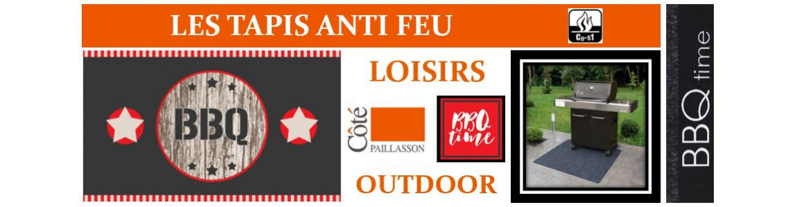 tapis barbecue, tapis anti-feu, tapis plancha, tapis décoratif BBQ,